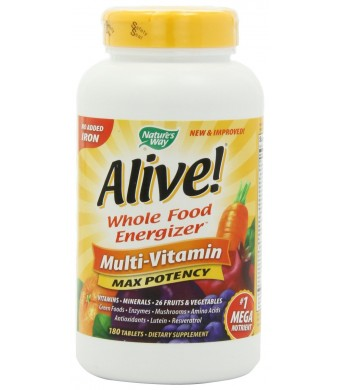 Alive Max Potency (No Iron Added) Multivitamin, 180 tablets