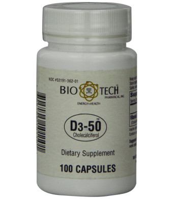BioTech Pharmacal - D3-50 (50,000 IU) - 100 Count
