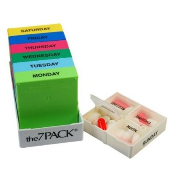 7 Day Pill Pack - Medicine Organizer Dispenser