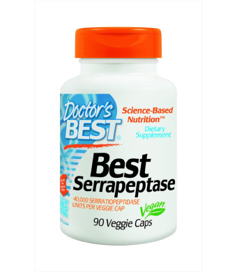 Doctor's Best Best Serrapeptase (40, 000 Units), 90-Count
