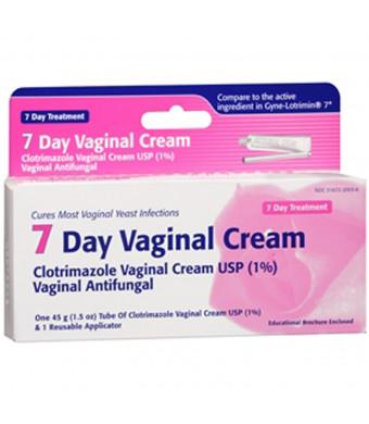 Clotrimazole Vaginal Cream USP 1 Percent , 7-Day Vaginal Cream - 45 g