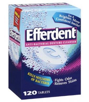 Efferdent Anti-Bacterial Denture Cleanser: 120 Count