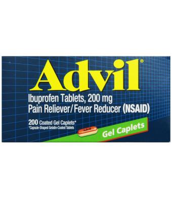 Advil Ibuprofen, 200 mg, Coated Gel Caplets, 200 Count