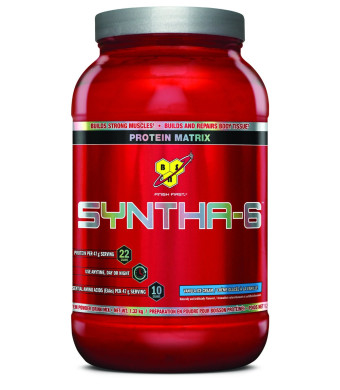 BSN SYNTHA-6 Protein Powder - Vanilla Ice Cream, 2.91 lb (28 Servings)