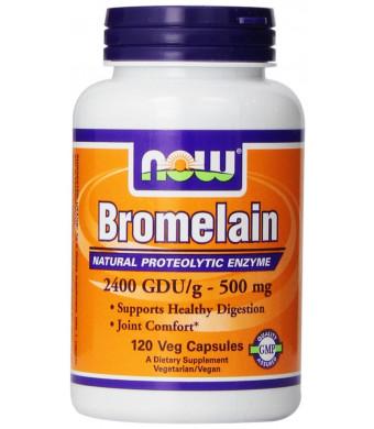 NOW Foods Bromelain 2400Gdu/500mg, 120 Vcaps