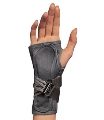 OTC ProChoice Cock-Up Wrist Splint, Gray, Left, Small