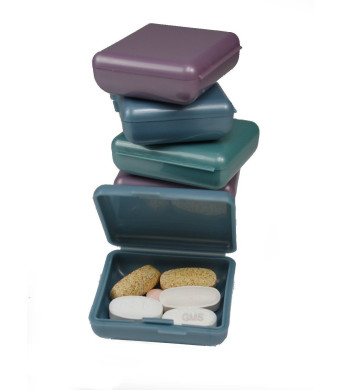 Indestructo Pill Box - 6 Per Package( Assorted Colors)