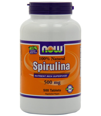 Now Foods Spirulina 500mg, Tablets, 500-Count