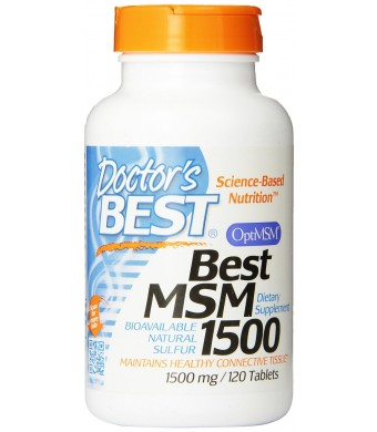 Doctor's Best Best MSM (1500 mg) Tablets, 120-Count