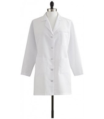 Medline Industries Healthcare MDT11WHT6E Ladies Staff Length Lab Coat, Size 6, White