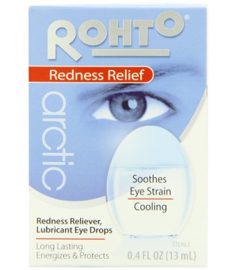 Rohto, Arctic Cooling Lubricant/Redness Relieving Eye Drops, 0.4-Ounce Bottles (Pack of 3)