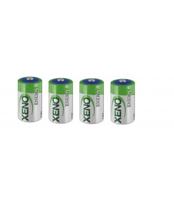 1/2AA Size Lithium Batteries (3.6V and 1200 mAh), 4 pack