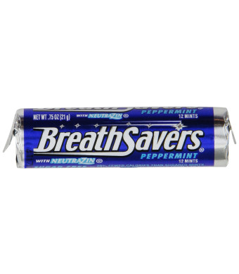 Breath Savers Mints, Peppermint, 0.75-Ounce Rolls (Pack of 24)