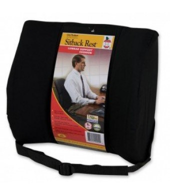 """Core Products Sitback Rest Deluxe Lumbar Support, 13""""  x 14"""" , With Strap, Black"""