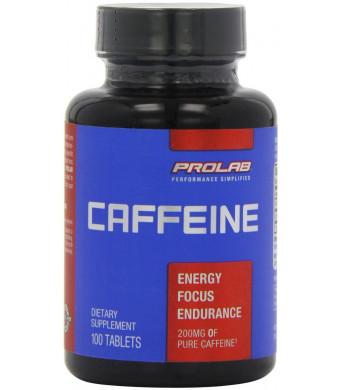 ProLab Caffeine Maximum Potency 200mg Tablets, 100-Count