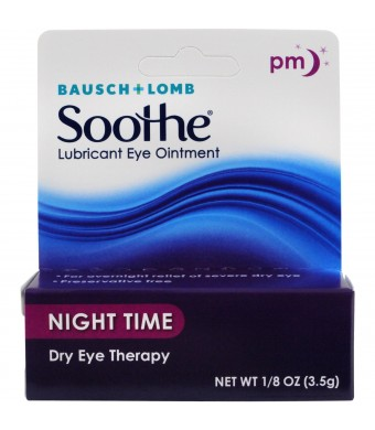 Bausch and Lomb Soothe Lubricant Eye Ointment, Night Time,1/8 oz.