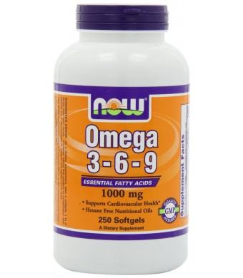 NOW Foods Omega 3-6-9 1000mg, 250 Softgels