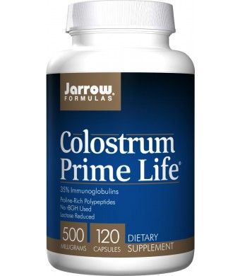 Jarrow Formulas Colostrum Prime Life, 500mg, 120 Capsules