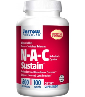 Jarrow Formulas Nac Sustain 600mg, 100 Tablets