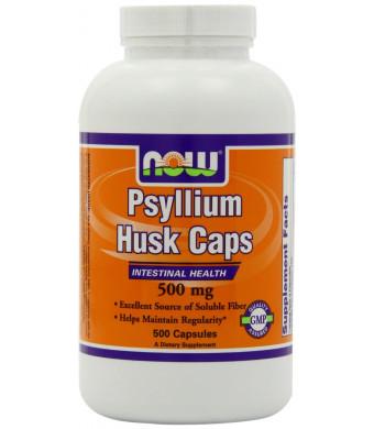 NOW Foods Psyllium Husk 500mg, 500 Capsules