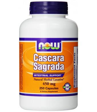 Now Foods Cascara Sagrada 450mg, Capsules, 250-Count