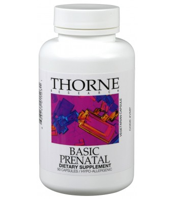 Thorne Research OTC Basic Prenatal Vegetarian Capsules, 90 Count