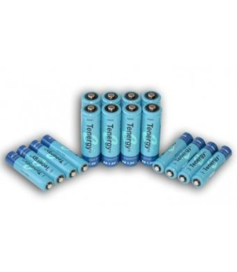 Tenergy High capacity NiMH Rechargeable battery package: 8 AA 2600 mAh + 8 AAA 1000 mAh