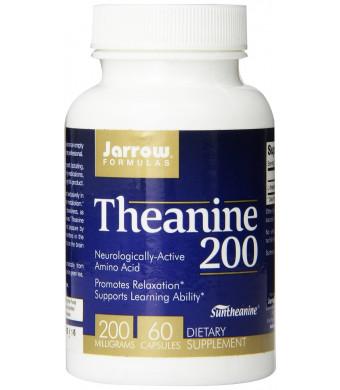 Jarrow Formulas Theanine 200, 200mg, 60 Capsules