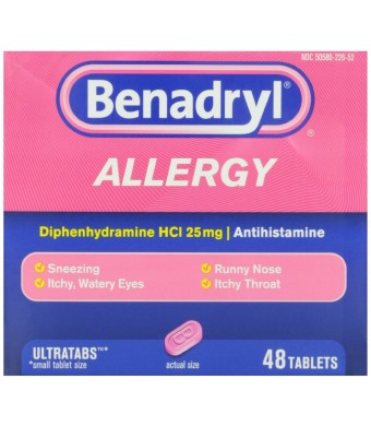 Benadryl Allergy Ultratab Tablets, 48-Count