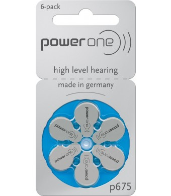 60 Powerone Hearing Aid Batteries Size: 675