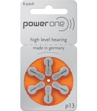 Power One Size 13 Zinc Air Hearing Aid Batteries (60 batteries)