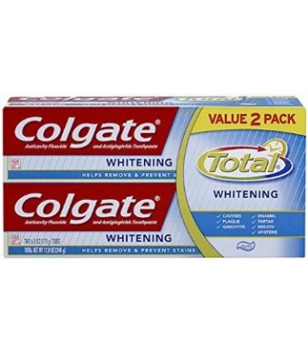 Colgate Total Whitening Toothpaste Twin Pack (two 6oz tubes)