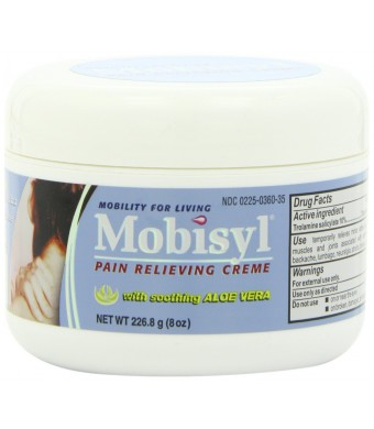 Mobisyl Pain Relieving Creme with Soothing Aloe Vera, 8 Ounce Jar