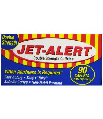 Jet Alert Double Strength Alertness Aid Caplets, 200mg-90 ct
