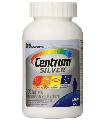 Centrum Silver Multivitamin Supplement, Men 50+, 200 Count