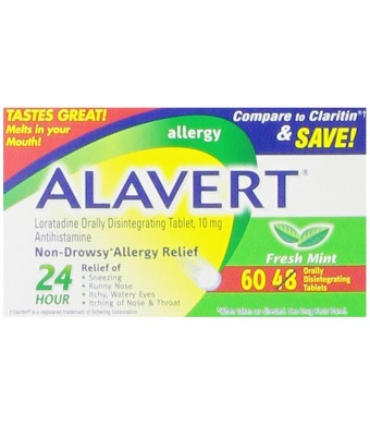 Alavert Quick Dissolving Tablets, Fresh Mint, 60 Count