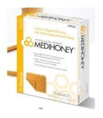 """Derma Sciences MEDIHONEY Calcium Alginate Dressing, 2"""" x 2"""", Box of 10"""