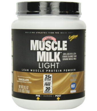 Cytosport Genuine Muscle Milk Light Lean Muscle Protein Powder, Chocolate, 1.65-Pound Jar