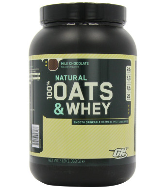 Optimum Nutrition 100% Natural Oats and Whey Milk Chocolate, 3 Pound