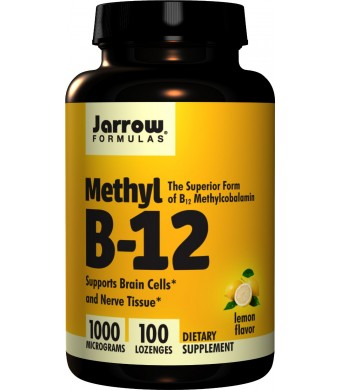 Jarrow Formulas Methyl-B12, Lemon Flavor, 1000mcg, 100 Lozenges