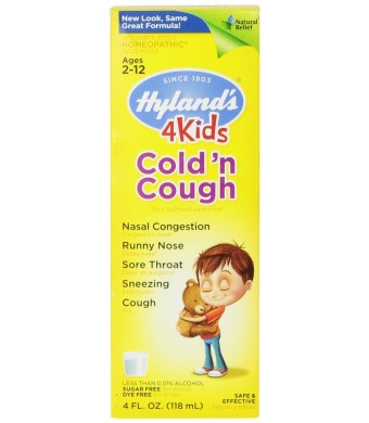 Hyland's Cold 'n Cough 4 Kids, 4 Fluid Ounce