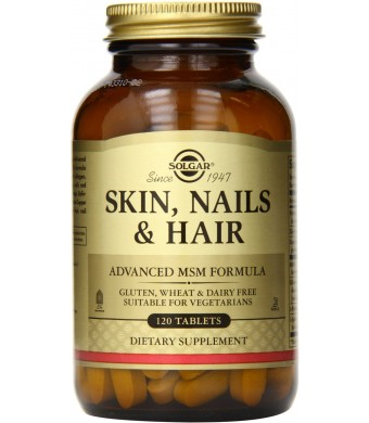 Skin, Nails and Hair, Advanced MSM Formula, 120 Tablets