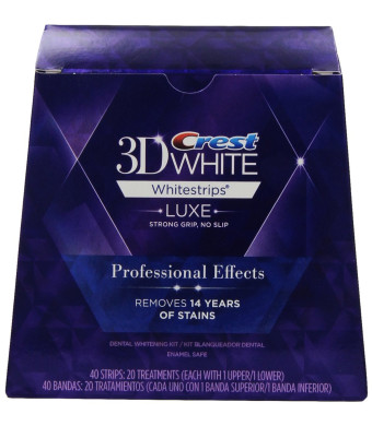Crest 3D White Luxe Whitestrips Professional Effects - Teeth Whitening Kit 20 Treatments (Packaging May Vary)