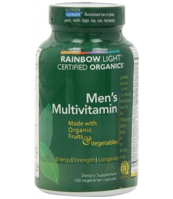 Rainbow Light, Men's Organic Multivitamin, 120 count - Package May Vary