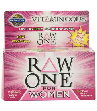 Garden of Life Vitamin Code RAW One for Women, 75 Capsules