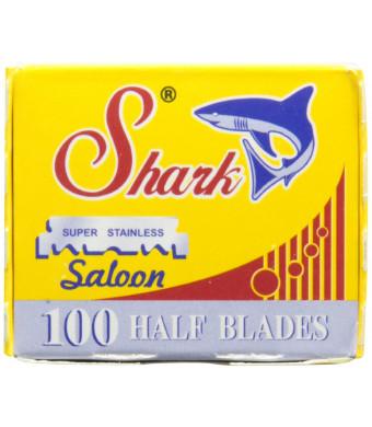 100 Shark Super Stainless Straight Edge Barber Razor Blades for Professional Barber Razors