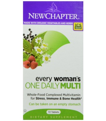 New Chapter Every Woman's One Daily Multivitamin, 72 Tablets