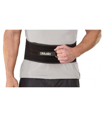 Mueller Adjustable Back and AbdomInchal Support, Black, One Size