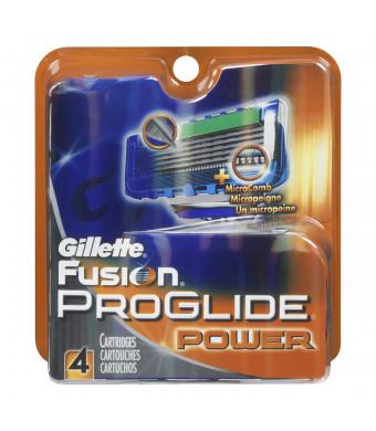Gillette Fusion ProGlide Power Men's Razor Blade Refills 4 Count