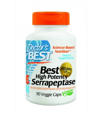 Doctor's Best High Potency Serrapeptase (120,000 Units), 90-Count